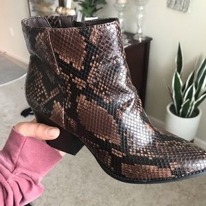 Shoes - Snakeskin Boots